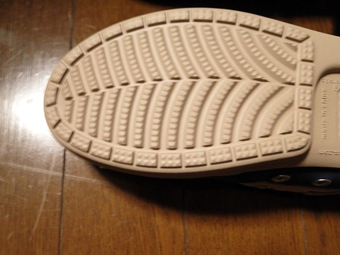 【crocs(クロックス)】wrap ColorLite loaferの靴底