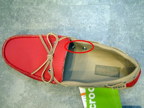 wrap ColorLite loafer w の穴