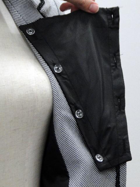 【ニッセン】異素材スーツ(変り織ジャケット+シフォンプリーツスカート)の胸当て