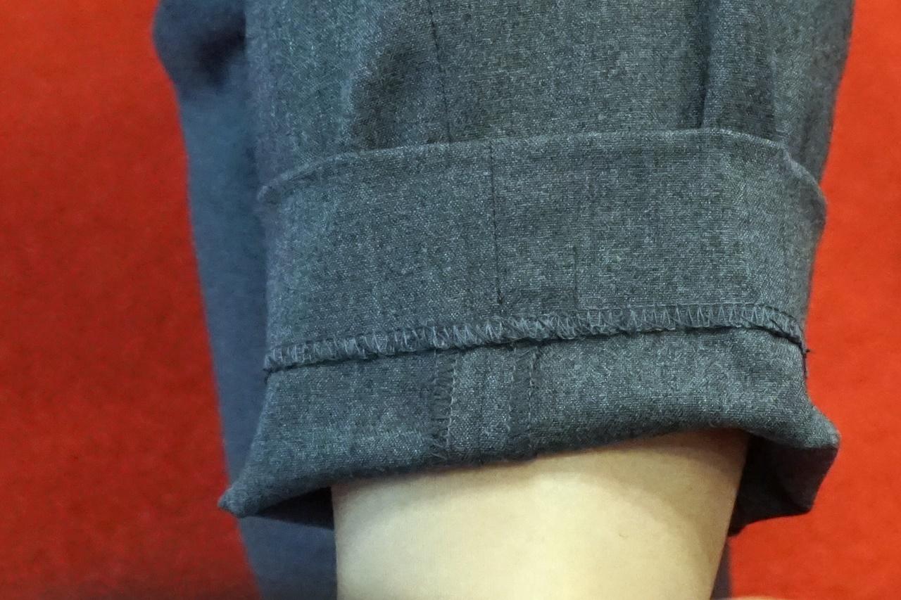 ランズエンドのパンツの裾上げ