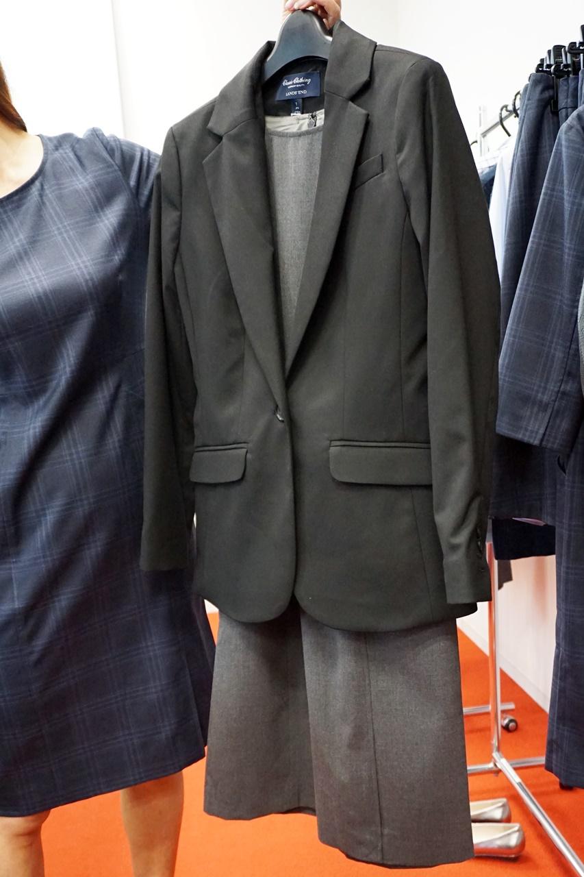 ランズエンド美型シルエット スムーズストレッチ・ドレス ジャケットと合わせて