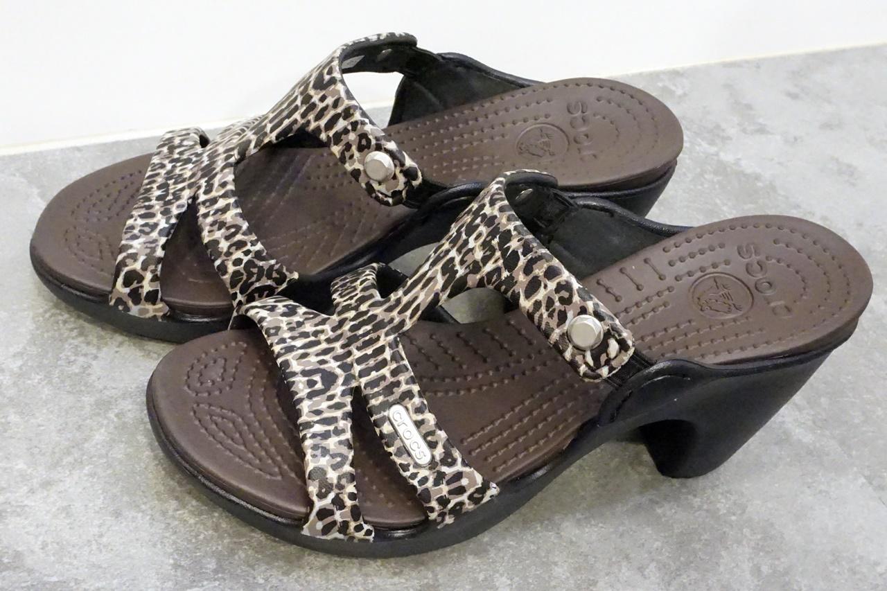 【Crocs(クロックス)】cyprus 5.0 leopard print heel w サイプラス 5.0 レオパード プリント ヒール ウィメン