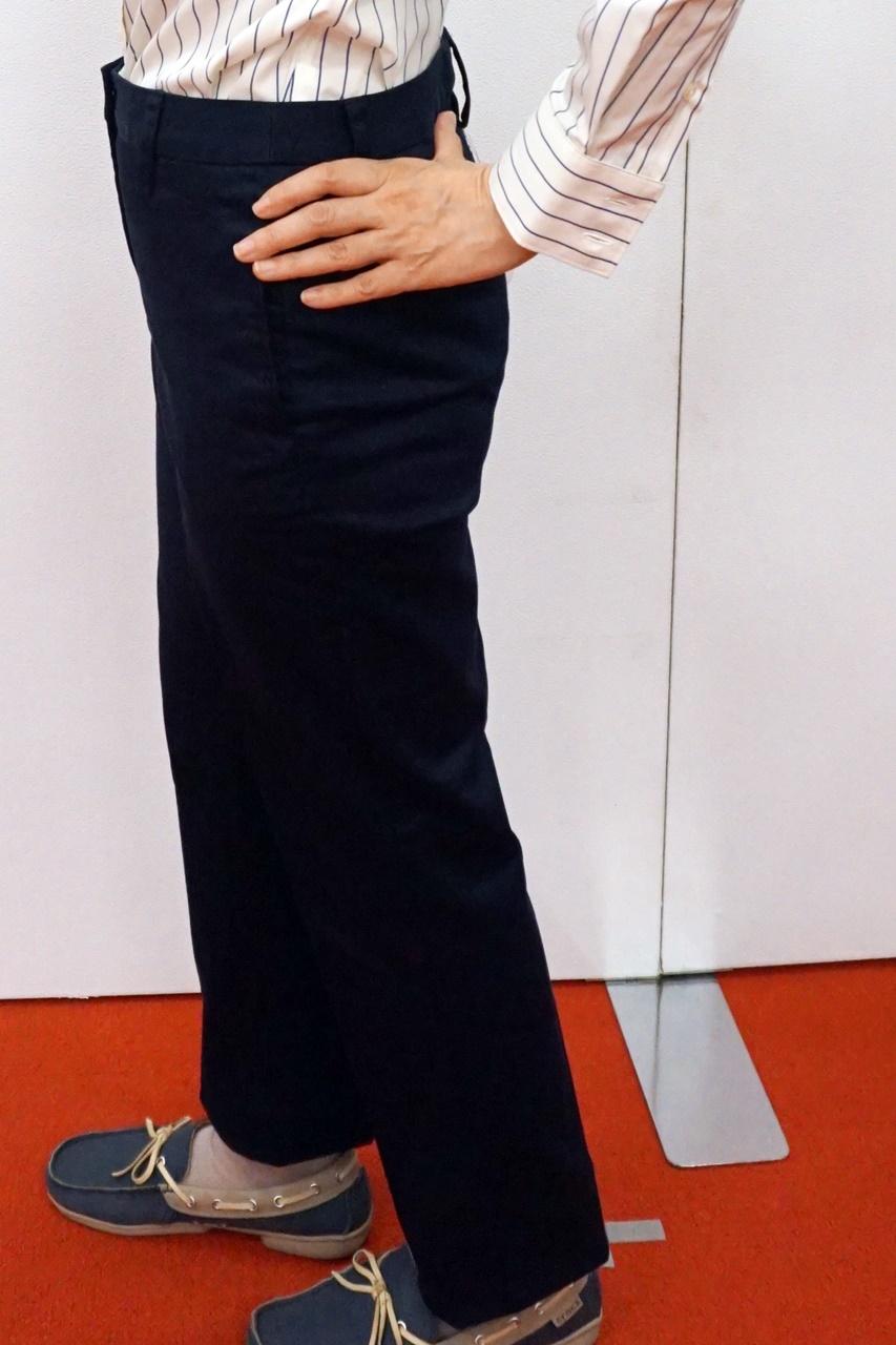 ■【ランズエンド】レディス・美型シルエット・ストレッチチノ・体型別パンツ/A体型/テーパード