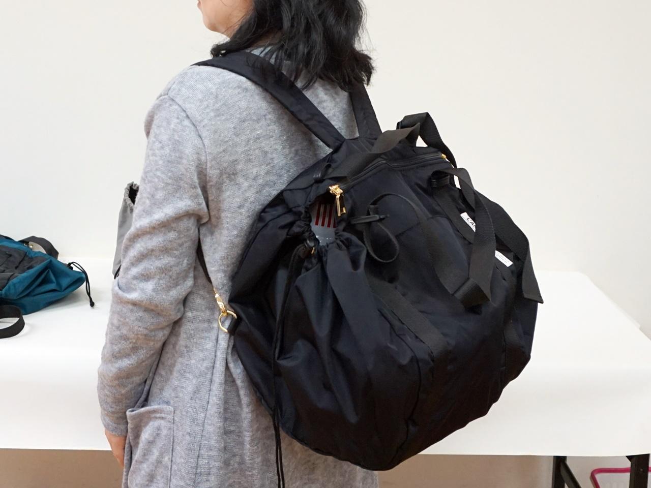 ■【フェリシモ】レジかご用バッグのビッグなリュックの会