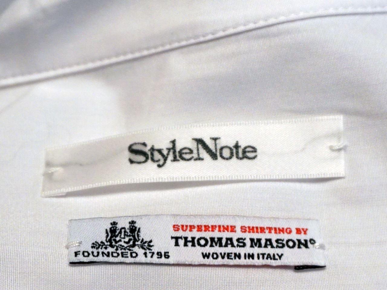極上シャツ生地メーカー「トーマス・メイソン」のロゴ