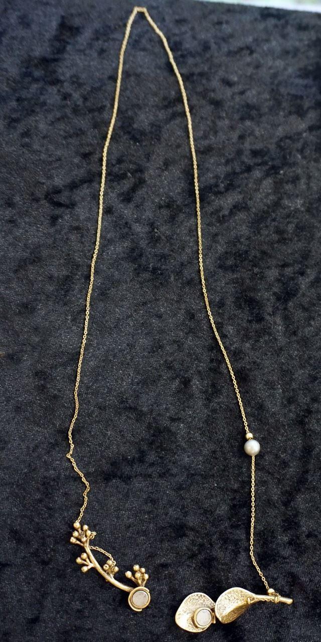 【フェリシモ】イラストレーター 山本祐布子さんと作った 自然のモチーフの重なりが美しいフロントマグネットネックレス