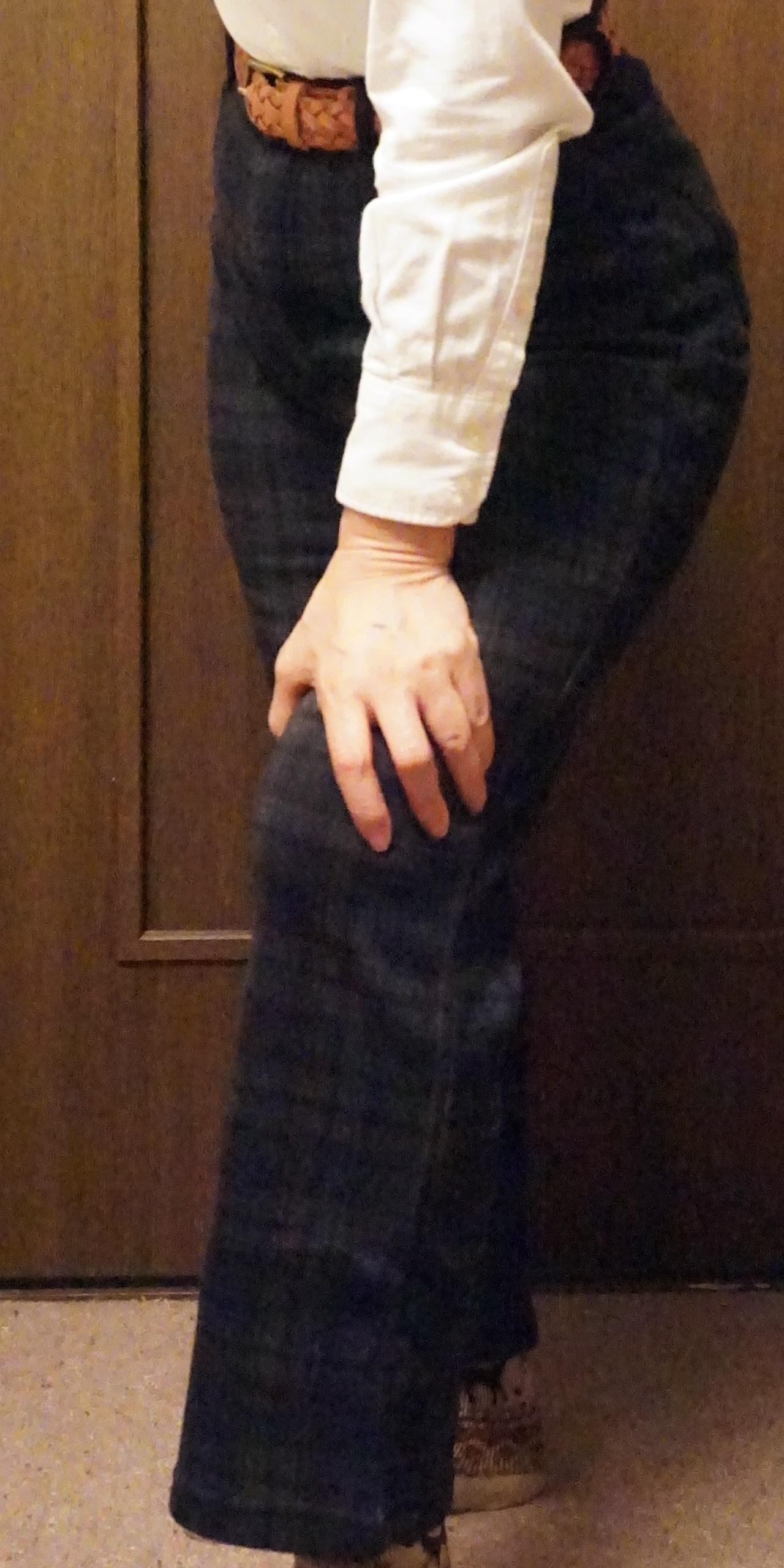 【セシール】ぬく盛り裏シャギーゆったりストレートパンツ